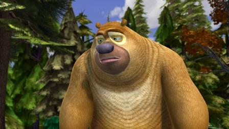 熊出没:熊二生意不好做,给大家传这么久的话,只得到一个苹果