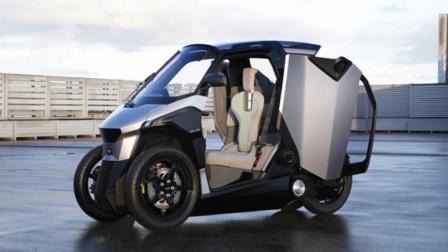 标致概念混合动力摩托车,配安全还带有空调,简直就是个小轿车!