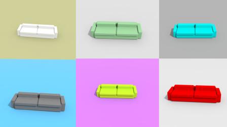 迷你世界微缩模型家具(沙发)——在资源工坊上传了糖果色沙发,已经可以下载了