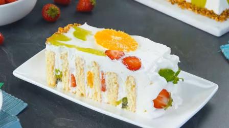 造型漂亮的奶油水果蛋糕,在家教你做