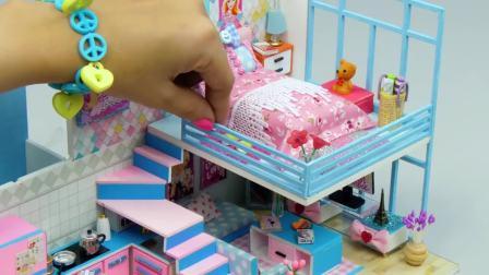 国外儿童时尚,趣味DIY,给芭比娃娃做迷你小床