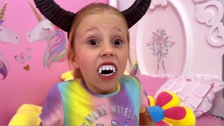 萌娃小可爱对爸爸撒谎结果竟然变成怪物模样
