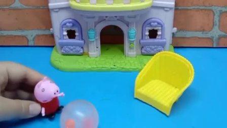 佩奇在玩好玩的气球,结果去个厕所气球炸了,猪爸爸要怎么哄佩奇