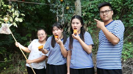 记得小时候摘柿子妈妈都会给我们做一个摘柿子ldquo神器rdquo真怀念