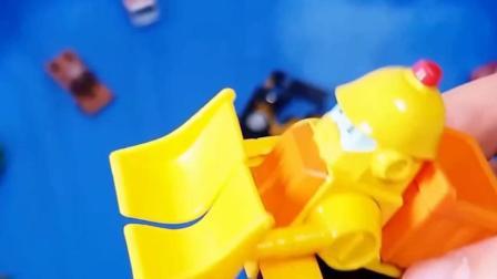 儿童早教玩具认知:推土机、拖车、飞机、挖掘机!