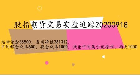 股指期货交易20200918