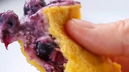 不用烤箱!不用油炸!低脂吃不胖的蓝莓酸奶吐司!5分钟就能搞定的元气早餐