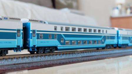 【火车模型】kunter出品N比例石秦双层25Z套装试车小运转
