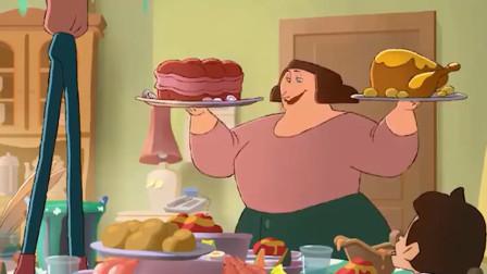 一部揭露人性的动画:全家都是吃货,发洪水也不愿离开饭桌!