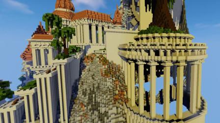 沙漠游戏《MC我的世界》(3)纪念碑谷地图试玩