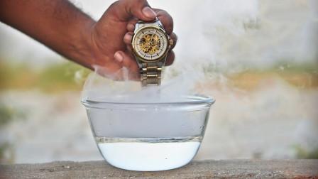 把劳力士手表丢在-196℃液氮里,会怎样?网友:太豪横了!