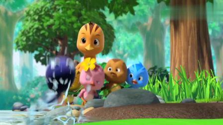 萌鸡小队:小蝌蚪来到池塘,找到了自己的妈妈,母子团聚真是好