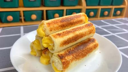 早餐吃啥?吐司快手做法,比馒头香,比油条营养,孩子大人抢着吃