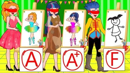 艾达琪把别的的画替换掉,但还是被老师发现了 小马国女孩游戏
