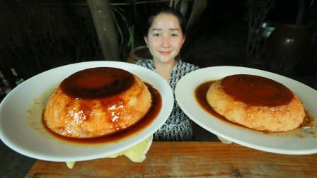 """教你用鸡蛋做""""焦糖布丁"""",柬埔寨农村巧妇"""