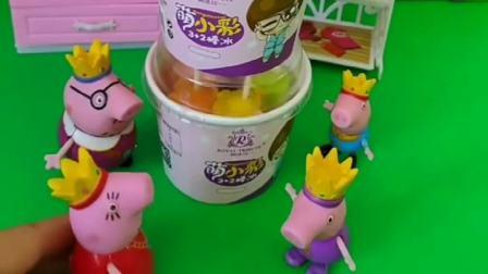 儿童玩具:佩奇过生日,猪妈妈送冰激凌蛋糕