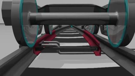 火车途经岔道口是如何转向的?3D动画模拟全程,解开多年疑惑