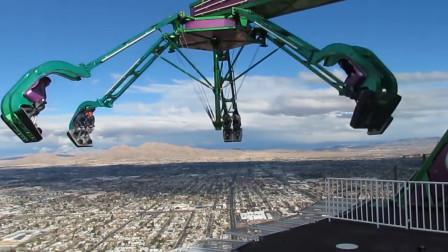 全球首个4D过山车,在高速行驶的路程中,座位还会自动旋转!