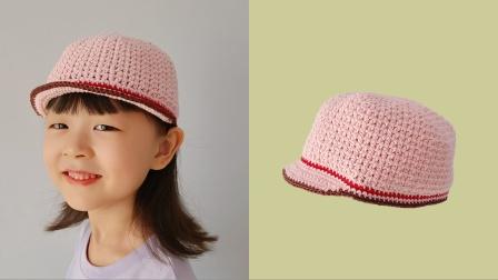 钩针编织:儿童蕾丝帽子,天生丽质轻薄透气