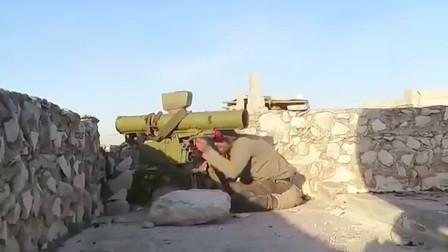叙利亚战场实录:叛军用反坦克导弹偷袭政府军,根本不给对手反应时间