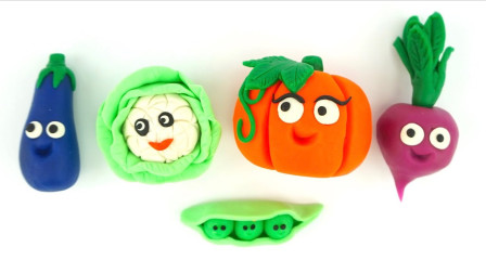 儿童动画雪花彩泥粘土DIY手工制作玩具视频教程大全 蔬菜