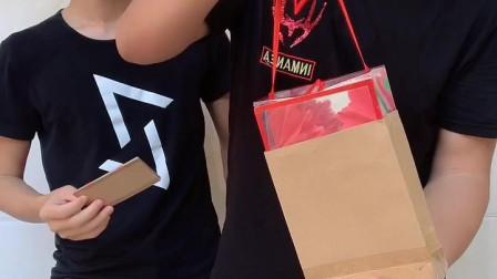 空袋变礼盒,结局有点搞笑!