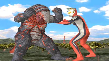 奥特曼格斗游戏第二季:正义化身杰斯提斯对战火焰哥尔赞