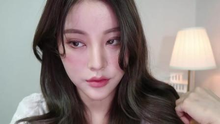 韩国化妆教程:2019秋季日常桃色妆容!