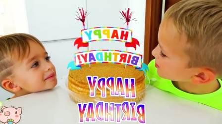 美国儿童时尚,小男孩做的生日蛋糕,一起来看看吧