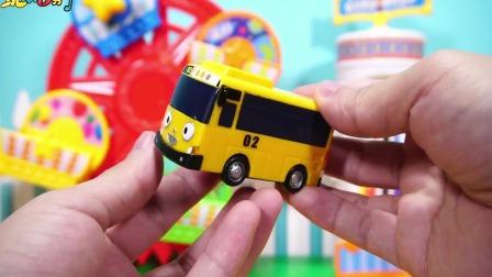 儿童卡通玩具小巴士公交车轨道游乐园趣味游戏