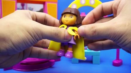 卡通故事爱探险的朵拉 乐高积木城堡 朵拉历险记 玩具