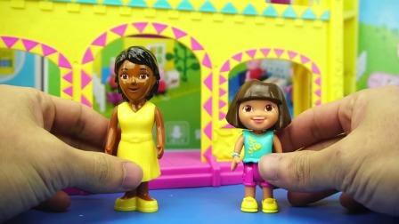 儿童游戏爱探险的朵拉益智校园过家家玩具卡通玩具