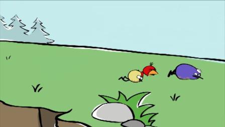 小皮大世界:三只小鸡真是可爱,不好好走路,非要在地上摩擦