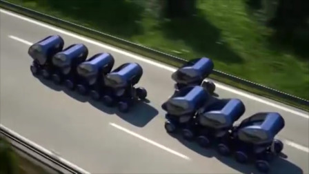 老外造高科技电动车,能瞬间连成小火车,跑在路上超拉风