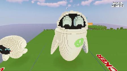 我的世界动画-如何造机器人伊娃-NOOB MINERS