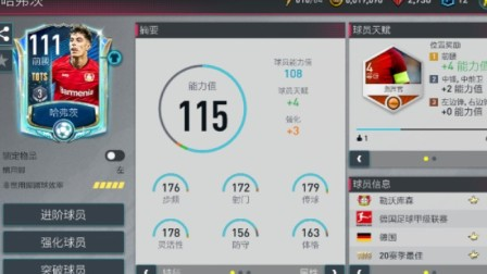 【FIFA足球世界】20赛季最佳前腰 哈弗茨