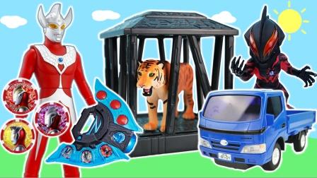 泰罗奥特曼动物园被贝利亚放出猛兽,泽塔奥特曼来帮忙