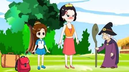 白雪公主怎么把王后和贝儿公主赶出了童话王国?
