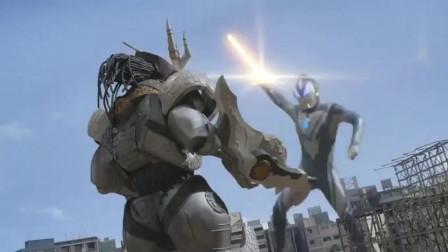奥特曼:赛罗火力全开, 直接变出八只手, 把加拉特隆直接打飞