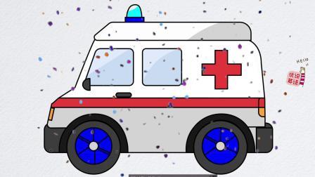 寓教于乐知识小课堂绘画版,病人需要急救时我们要叫哪辆车呢?