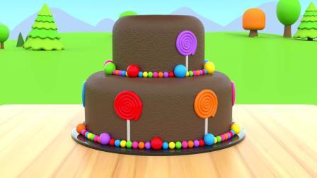 孩子们学习早教颜色英语,看烘焙蛋糕的卡通视频,益智有趣
