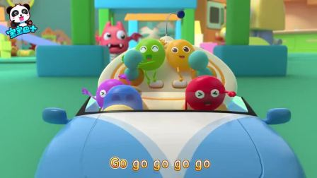 《宝宝巴士美食总动员》玩具世界:彩虹糖去冒险遇到霸王龙,会怎么样呢?