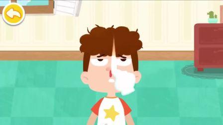 宝宝巴士:摔了一跤流鼻血了怎么办,注意安全保护自己,早教育儿经验分享
