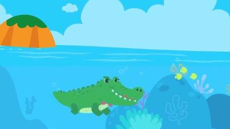 宝宝巴士:奇奇妙妙沙滩做沙堡,突然鳄鱼爬上沙滩生蛋宝宝,盖上沙子保护它们