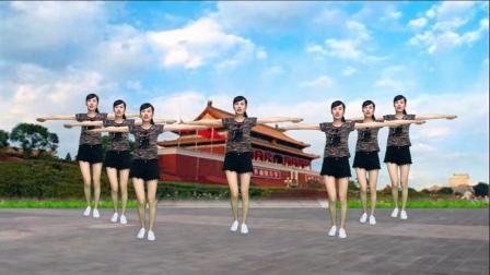 广场舞《大中国dj》动感大气,喜庆欢快,祝福祖国