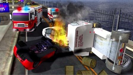 【永哥玩游戏】消防员驾驶消防车城市灭火救援 消防员灭火