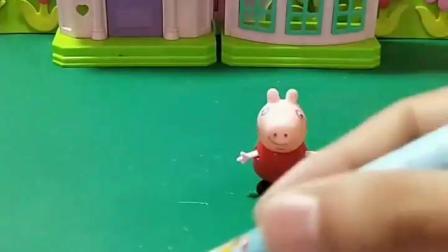 益智亲子宝宝幼教:你们喜欢佩奇的泡泡笔吗