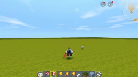 迷你世界:头变得比轮胎都大, 地图中变身大头儿子, 太好玩了