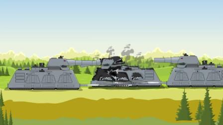 坦克大战:受伤的坦克被同伴发现了
