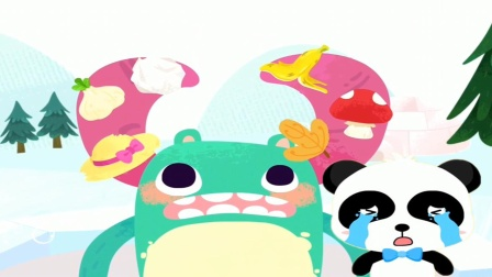 小怪兽掉进了冰窟窿,奇奇吓哭了!宝宝巴士游戏